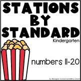 Numbers 11-20 Math Stations Kindergarten