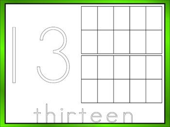 Numbers 11-20 Playdough Mats
