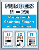 Ten Frame Number Posters with Counting Fingers (Finger Cou
