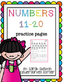 Numbers 11-20 Practice Pages