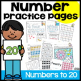 Numbers 11-20 Worksheets and Pocket Chart Cards