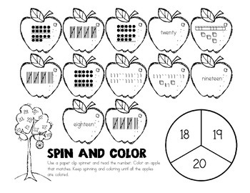 Numbers 11-20 Printables and Centers