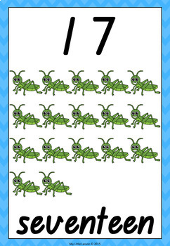Numbers 11-20 QLD Beginners Font: Worksheets and Posters