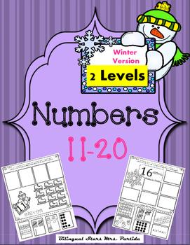 Numbers 11-20 Representing numbers Winter Version  Bilingu