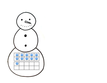 Numbers 11-20 Snowman and hat matching