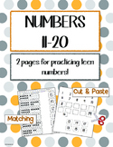 Numbers 11-20 - Supports the Common Core!