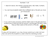 Numbers 11-20 Ten and...   Puzzle, SNAP or Beebots