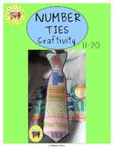 Numbers 11-20 Craftivity Ties