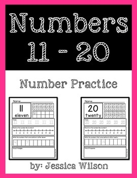 Numbers 11-20 Worksheet Pack