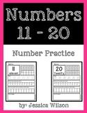 Numbers 11-20 Worksheet Pack