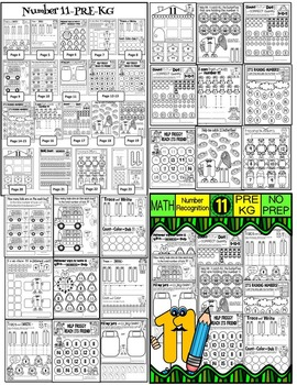 Number Worksheets (11-20)-MATH WORKSHEETS (PRE-KG EDITION)- 220 worksheets