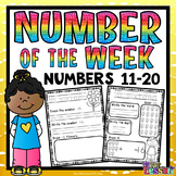 Numbers 11-20 Worksheets: Number of the Week