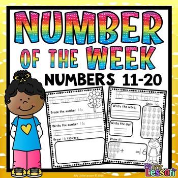 Numbers 11-20 Worksheets: Number of the Week