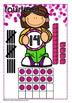 Numbers 11-20 ~ reinforcing tally marks, Base 10 and 20 Frame