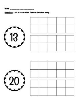 Numbers 11-20 (tens frames)