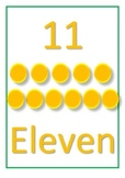 Numbers 11-20 with number, number names and dots