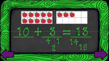 Numbers 11 to 19 Kindergarten Math  (Interactive Powerpoint!!) Always $1.00!!