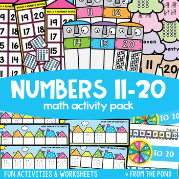 Numbers 11-20 Counting, Recognizing, Writing Teaching Resources ...