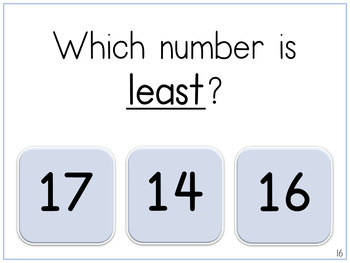 Numbers 11 to 20 | Teen Numbers | Digital Tasks for Special Education