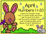 Numbers 11 to 20 for April