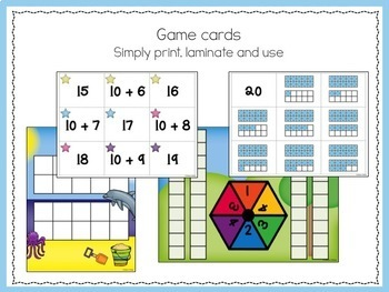 Numbers 11 to 20, teaching teen numbers - Print and Use