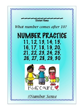 Numbers 11 to 30 Practice Book