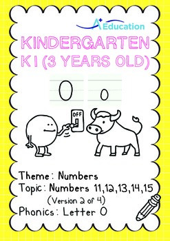 Numbers - 11,12,13,14,15 (II): Letter O - K1 (3 years old)