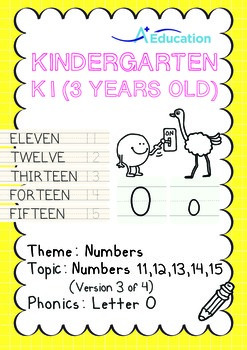 Numbers - 11,12,13,14,15 (III): Letter O - K1 (3 years old