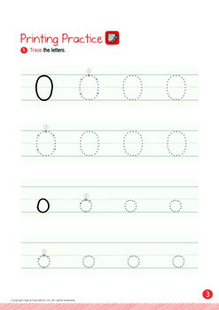 Numbers - 11,12,13,14,15 (IV): Letter O - K1 (3 years old), Kindergarten