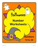 Numbers 12 to 24; Halloween theme