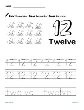 Numbers 12 to 24; Halloween theme