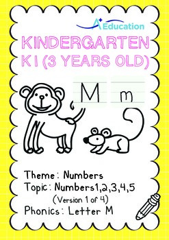 Numbers - 1,2,3,4,5 (I): Letter M - K1 (3 years old), Kind