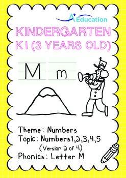 Numbers - 1,2,3,4,5 (II): Letter M - K1 (3 years old), Kin