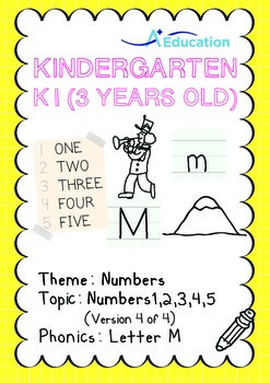 Numbers - 1,2,3,4,5 (IV): Letter M - K1 (3 years old), Kin