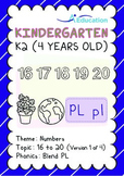 Numbers - 16 to 20 (I): Blend PL - K2 (4 years old), Kindergarten