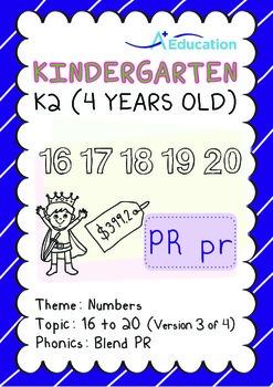 Numbers - 16 to 20 (III): Blend PR - K2 (4 years old), Kin