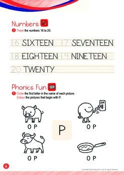 Numbers - 16,17,18,19,20 (II): Letter P - K1 (3 years old), Kindergarten
