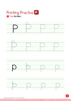 Numbers - 16,17,18,19,20 (III): Letter P - K1 (3 years old), Kindergarten