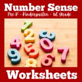 Number Sense Worksheets Kindergarten