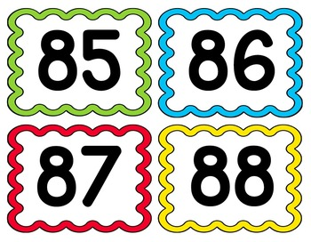 Numbers Cards 1-100
