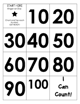 Numbers 20-100 Chant & Tap
