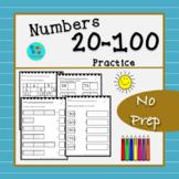 Numbers 20-100 Practice