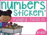 Numbers 10-100 Stickem' Sorts