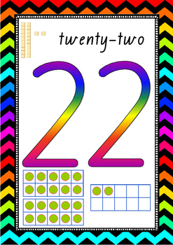 Numbers 20-30 Posters