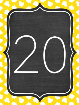 Numbers 20 - 30 Posters / Flashcards