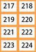 Numbers 201-300 Multi Coloured Flash Card Mega Value Bundle