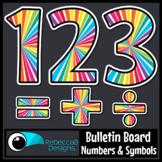 Bulletin Board Numbers and Math Symbols Printable
