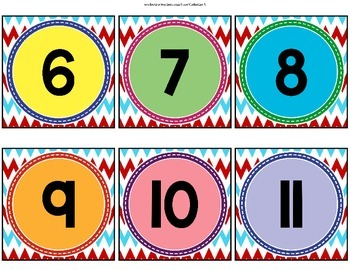 Numberline Posters