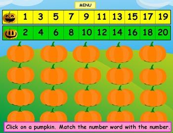 Numbers Pumpkins Kindergarten First Grade