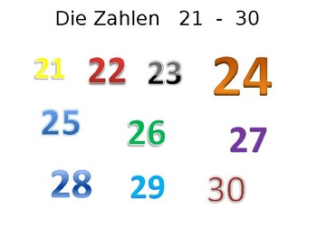 Numbers 21-30